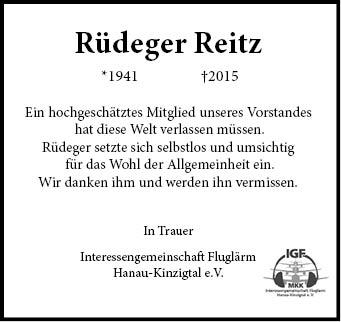 Traueranzeige Rüdeger ReitzV002